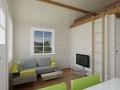 attefallshus med loft interiör