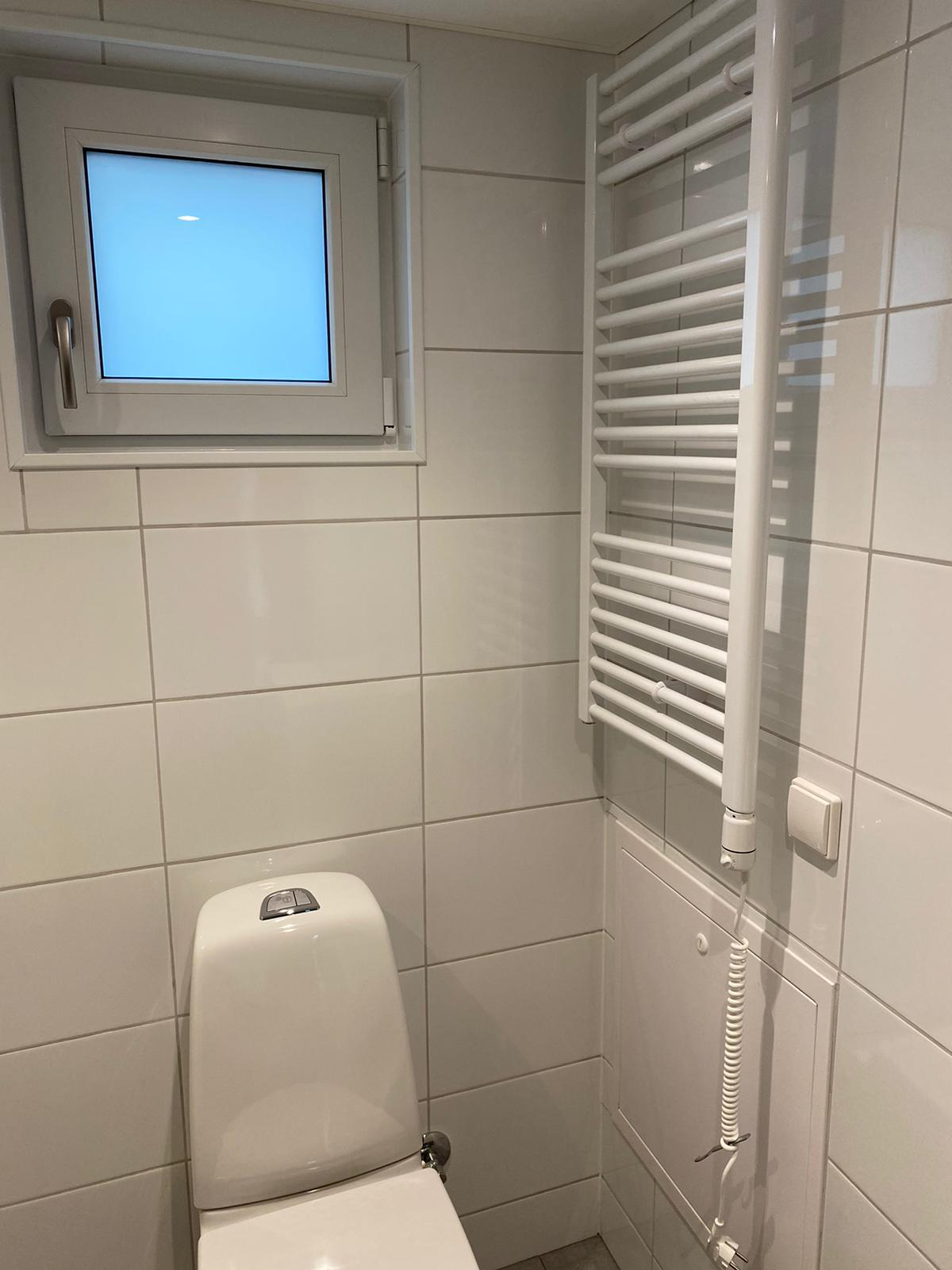 Handdukstork i badrum