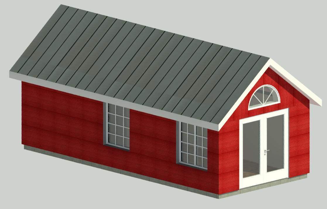 attefallshus 30 m2 sadeltak