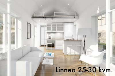 Attefallshus Linnea med loft