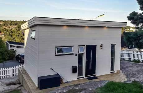 Attefallsfabrik.se - Modernt attefallshus i funkis-stil
