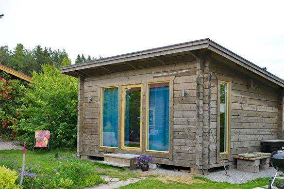 Grönandal attefallshus i timmer